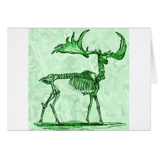 Cartão alces de esqueleto