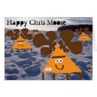 Cartão Alces felizes de Chris