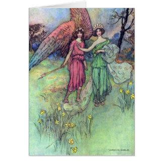 Cartão Alceste e o deus do amor,