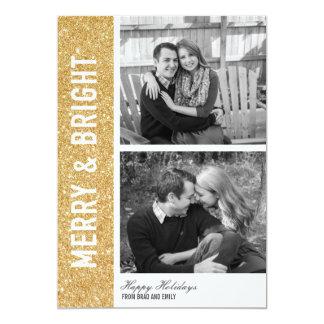 Cartão alegre & brilhante do brilho convite 12.7 x 17.78cm