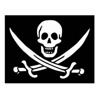 Cartão alegre da bandeira de pirata de Roger