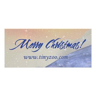 Cartão alegre da cremalheira de Chrismtas 4x9 10.16 X 22.86cm Panfleto