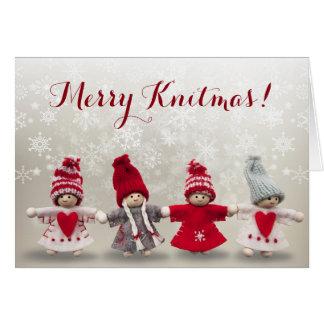 Cartão alegre de Knitmas