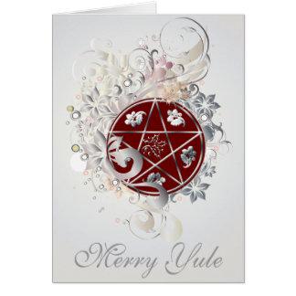 Cartão alegre do cameo do Pentagram de Yule - 3B