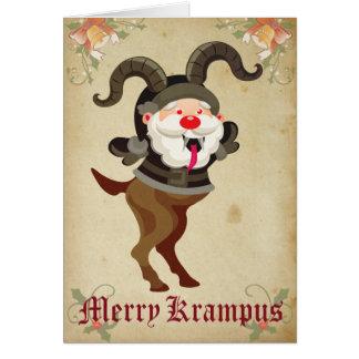 Cartão alegre do feriado de Krampus