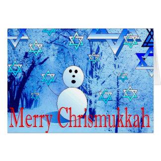 Cartão alegre do Judao-Cristão de Chrismukkah