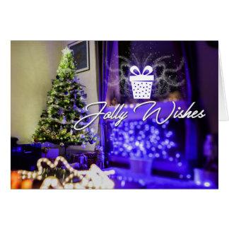 Cartão alegre do Natal dos desejos