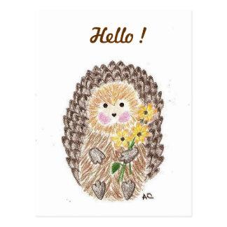 Cartão alegre do ouriço