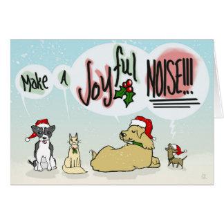Cartão alegre do ruído