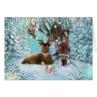 cartão alegre do xmas