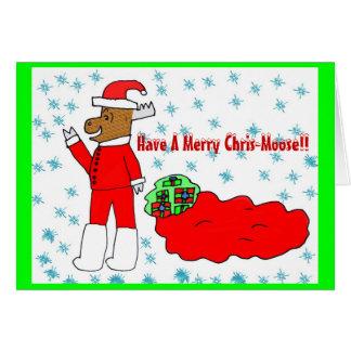 Cartão alegre dos Chris-Alces
