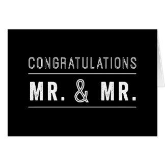 Cartão alegre dos parabéns do casamento do casal
