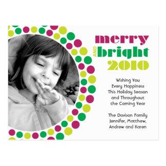 Cartão alegre e brilhante da foto de 2010 feriados