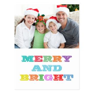 Cartão ALEGRE e BRILHANTE do feriado
