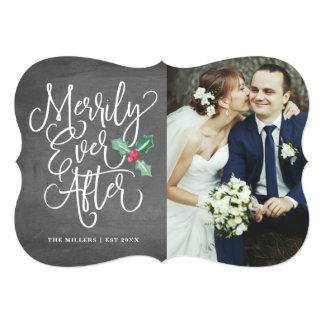 Cartão Alegre nunca após o feriado Wedding/obrigado você