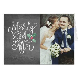 Cartão Alegre nunca após Wedding a foto do feriado