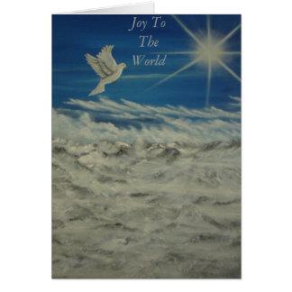 Cartão Alegria ao mundo
