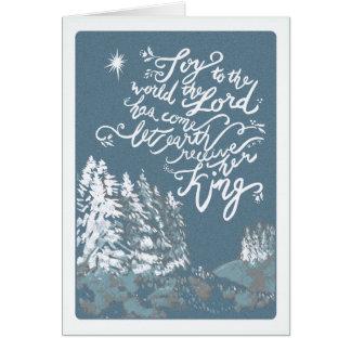 Cartão Alegria ao Natal do mundo