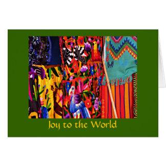 Cartão Alegria ao Natal global do mundo