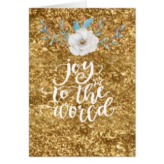 Cartão Alegria ao ouro do mundo