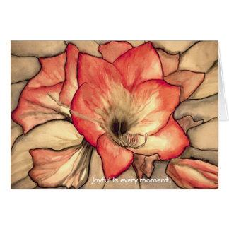 Cartão Alegria de Amarylis por Ann Haaland