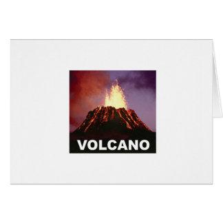 Cartão Alegria do vulcão