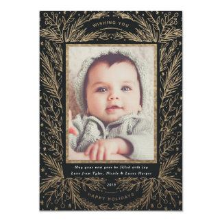 Cartão Alegria doce/ouro