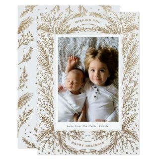 Cartão Alegria doce/ouro branco