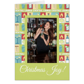 Cartão Alegria feita sob encomenda do Natal do barman da