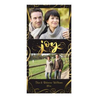Cartão ALEGRIA, Flourish elegante do ouro em Brown