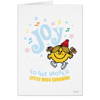 Cartão Alegria pequena da senhorita Luz do sol   ao mundo