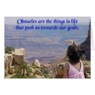 Cartão Além de nossos obstáculos