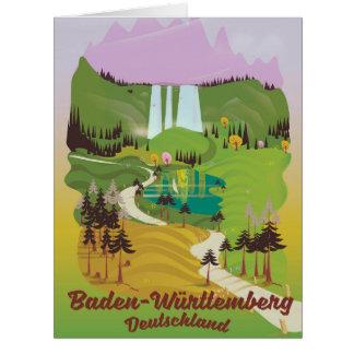 Cartão Alemanha de Baden-Württemberg