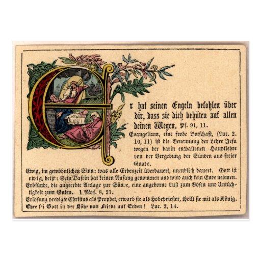 Cartão alemão da catequese cartão postal