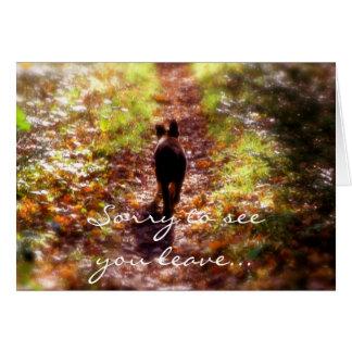Cartão Alemão Shep. floresta, pesarosa vê-lo sair…