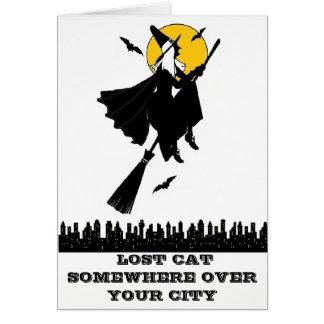 Cartão Alerta: Gato perdido!!!