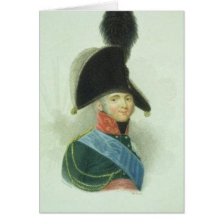 Cartão Alexander (1777-1825) o grande imperador de todo o