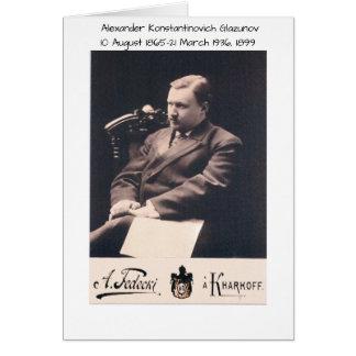 Cartão Alexander Konstantinovich Glazunov 1899