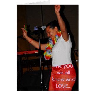 Cartão Alexandra a cantora que nós conhecemos e AMAMOS…