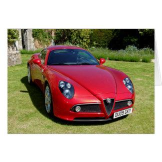 Cartão Alfa Romeo 8C Competizione ostenta o cupé