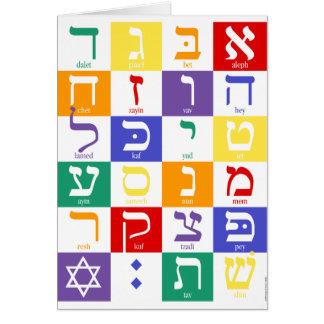 Cartão Alfabeto hebreu Notecard