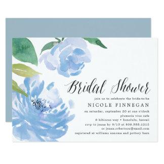 Cartão Algo chá de panela azul de |