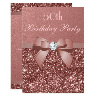 Cartão Algum arco cor-de-rosa do diamante do brilho do