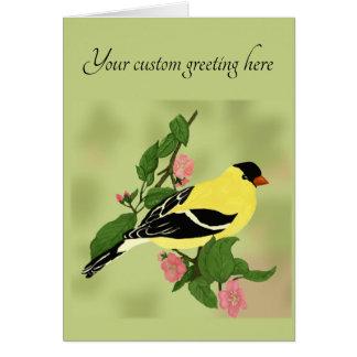 Cartão Algum pássaro do Goldfinch da ocasião