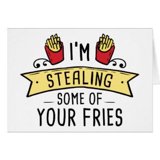 Cartão Algumas de suas fritadas