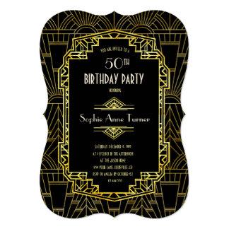 Cartão ALGUNS preto da IDADE & festa de aniversário de