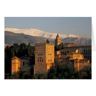 Cartão Alhambra; Granada; Andaslusia, espanha, serra