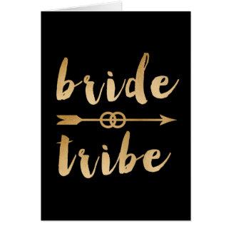 Cartão alianças de casamento elegantes da seta do tribo