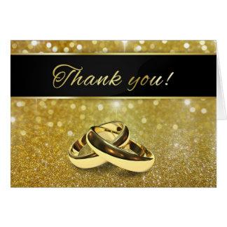 Cartão Alianças de casamento elegantes do brilho -