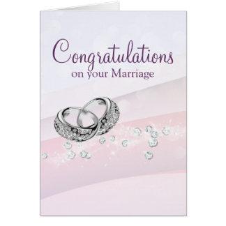 Cartão Alianças de casamento encantadores